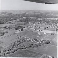 Aerial photograph of Highland campus, Mankato State College, Early 1970s.