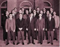 Group portrait of Delta Sigma Pi at Mankato State College 1964-11-12