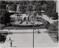 View of the Fountain, Mankato State University, Late 1970s.