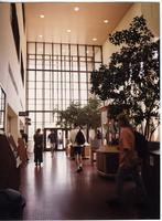Students walking in Wigley Administration building, Mankato State University, 1995.