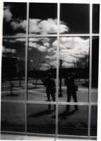 Walkway between Armstrong and Nelson Hall, Mankato State University, 1990s.
