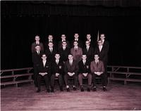 Group portrait of Delta Sigma Pi at Mankato State College 1959-12-23