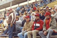 A candid photo of Mankato State University fans during the conference championship football game.