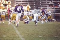 A Mankato State University football game against the Augustana Vikings at Blakeslee Stadium, 1987.