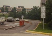 Mankato State University Lot 4A facing Gage Center and B Tower June 12, 1989