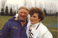Doug and Sara at Mankato State University football game, 1987