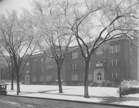 Old Main Lab School in the winter, Mankato State Teacher's College
