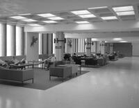 Student lounge outside of the ballroom in the centennial student union at Mankato State College 1968-11-06
