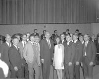 Tau Kappa Epsilon fraternity in the centennial student union at Mankato State College 1967-11-01