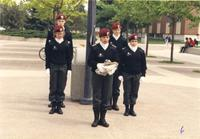 Mankato State University, flag ceremony on the Campus Mall for POW-MIA.