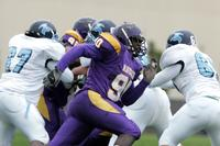 Minnesota State University, Mankato Football|2004 Football Action|10-16-04-UIU|Fowler|Flannigan Darnell 04DA