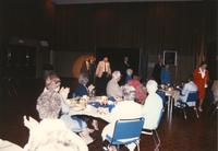 Picture of people at the Retirement Banquet eating located in the Centennial Student Union. Mankato State University, June 1, 1989.