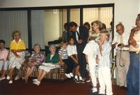 Donna Evans Retirement, group of people. Mankato State University, August 3, 1989.