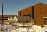 Mankato State University 1-12-1989 - Greenhouse outside of Trafton Science Center.