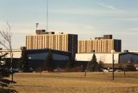 Mankato State University - Highland Arena with a view of Gage Residence Community in the background 12-21-1988.