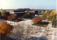 The Fountain, Campus Mall,   CSU, Fall, Mid-Late 1980's, Mankato State University