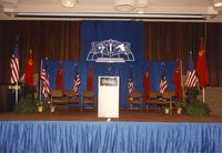 The stage in the Centennial Student Union Ballroom, Mankato State University