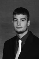 Minnesota State University, Mankato Football|2013 Head Shots|FB Head Shots B&W|Fleigle, Kris_1O0T9360