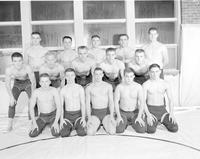 The wrestling team at Mankato State Teachers College, 1957-11-22.