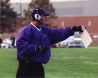 Minnesota State University, Mankato Football|action photos|Holley coaching 1.