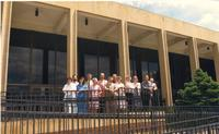 Mankato State University Music Department outside Earley Center for Performing Arts, 1989-06-01.