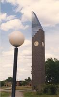 Mankato State University Ostrander Student Memorial Bell Tower, 06-01-1989.