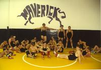 Mankato State University wrestling team, October 19, 1990.
