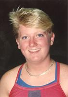 Mankato State University women's swimmer. October 3, 1990.