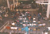Audience watching performance at the Mankato State University International Festival, 04-06-1991.