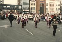 MSU's color guard team in St. Paul, Mankato State University, 1989-01-28.