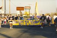 Students from Gage B participates in Homecoming, Mankato State University, 1988-10-14.