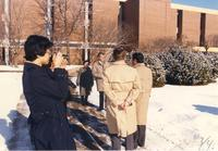 Japanese visitors at Mankato State University, 1989-01-26.