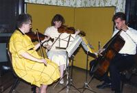 Orchestra group at Mankato State University, 1989?.