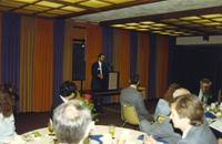 A reception at Mankato State University, 1989?.
