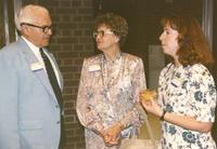 Alumi's and Alumnae's at the Distinguished Alumni Lunch at Mankato State University, 1990-06-08.