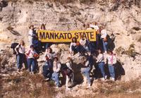 Mankato State University Women's basketball team October 10, 1990.