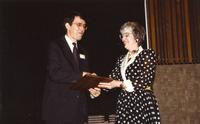 Dr. Philip and Sherily at Mankato State University, 1990-05-31.