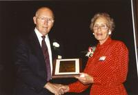 Vy Kalbroach and Don Buchanon at Mankato State University, 1990-05-31.