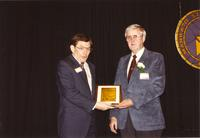 Russell Amling and Tom Peischl at Mankato State University, 1990-05-31.